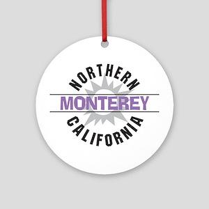 Monterey California Ornament (Round)