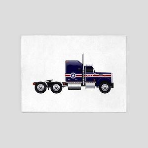 Blue American Truck 5'x7'Area Rug