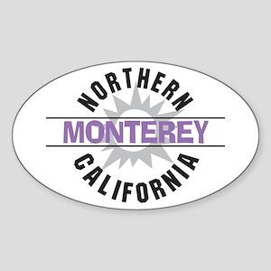 Monterey California Oval Sticker