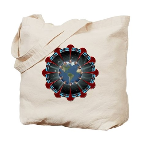 Hands Around The World Tote Bag