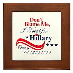 I Voted for HILLARY Framed Tile