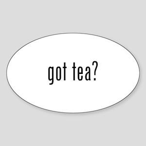 got tea? Oval Sticker (10 pk)