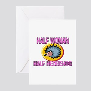 Half Woman Half Hedgehog Greeting Cards (Pk of 10)