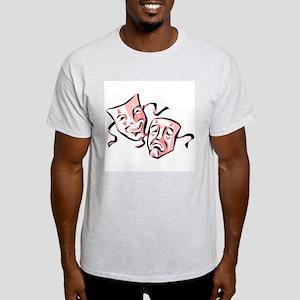 Drama Masks Ash Grey T-Shirt (Strawberry)