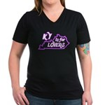 KY is for Lovers Women's V-Neck Dark T-Shirt