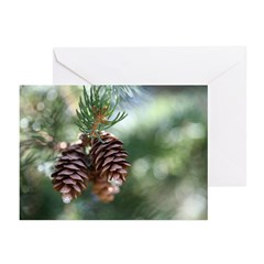 Pinecone Christmas Card (Pk of 20)