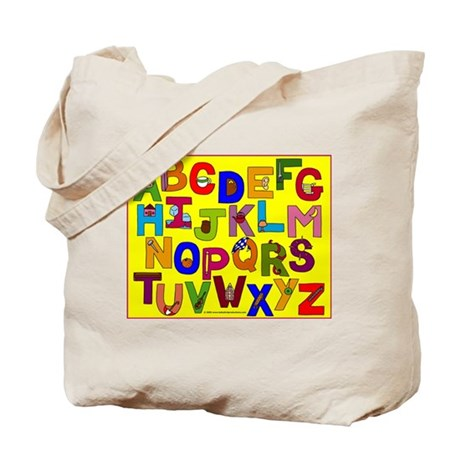 ABC Everyday Objects Alphabet Kids Tote Bags