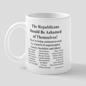 """""""Shame on Republicans"""" Mug"""