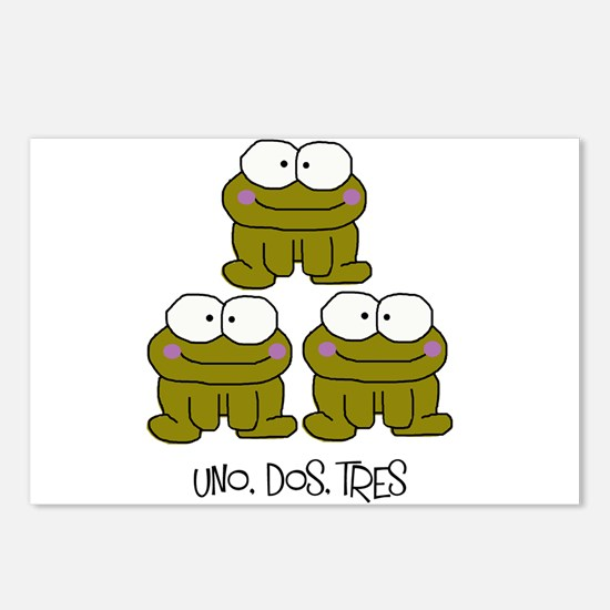 Uno, Dos, Tres RIBBITS! Postcards (Package of 8)