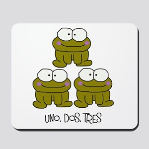 Uno, Dos, Tres RIBBITS! Mousepad