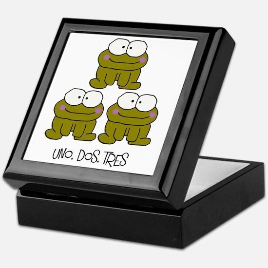 Uno, Dos, Tres RIBBITS! Keepsake Box