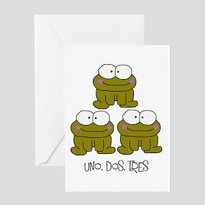 Uno, Dos, Tres RIBBITS! Greeting Card