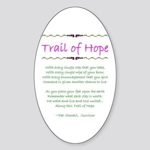 Trail of Hope Oval Sticker