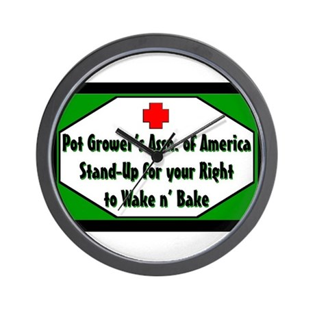 POT GROWER'S OF AMERICA LOGO Wall Clock