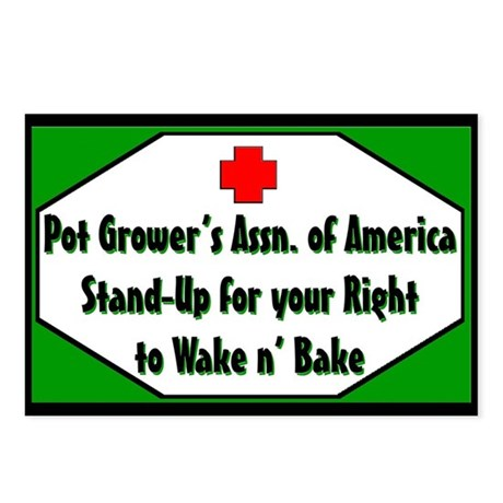POT GROWER'S OF AMERICA LOGO Postcards (Package of