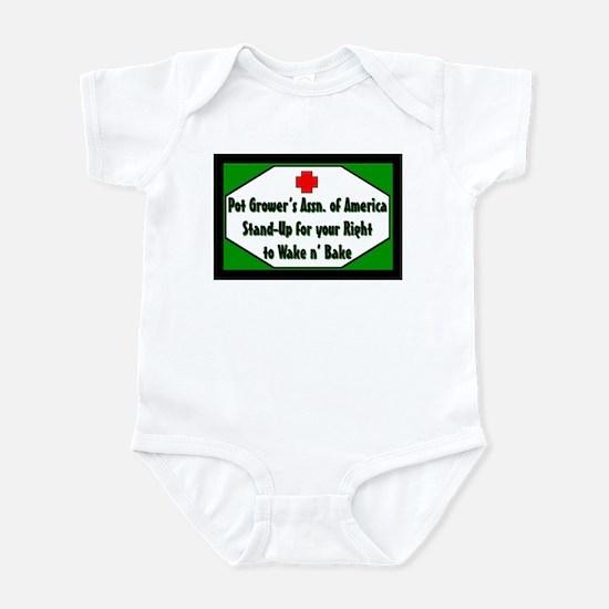 POT GROWER'S OF AMERICA LOGO Infant Bodysuit