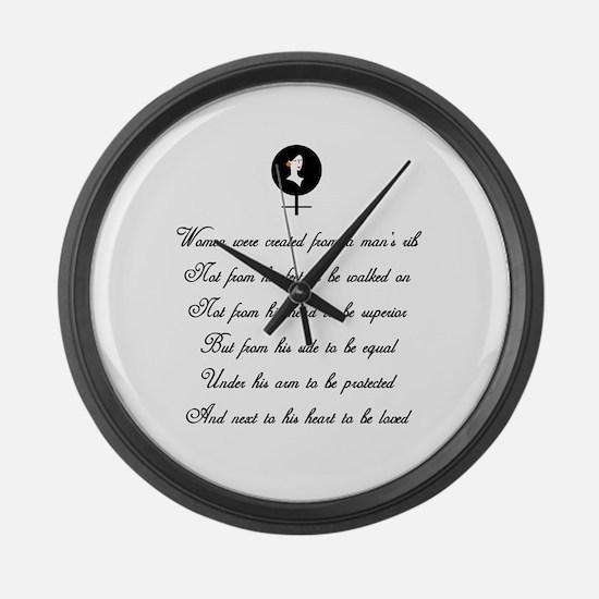 Women were Created Giant Clock