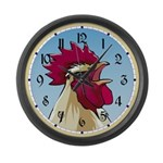 Crowing Rooster Giant Clock