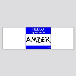 """Amber"" Bumper Sticker"