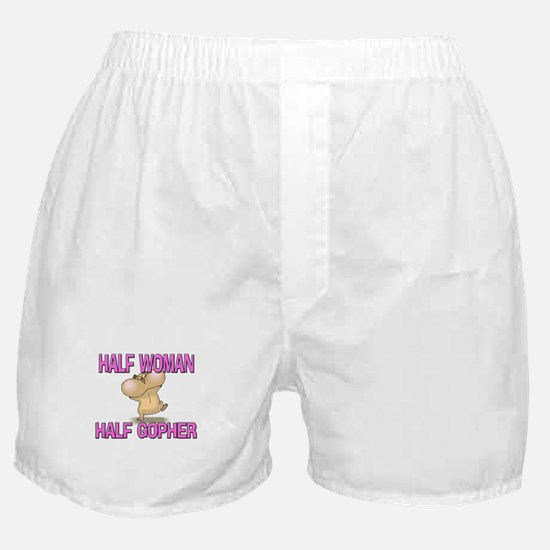 Half Woman Half Gopher Boxer Shorts