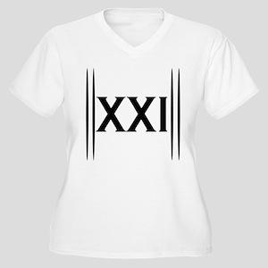 21st Birthday Women's Plus Size V-Neck T-Shirt
