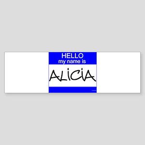"""""""Alicia"""" Bumper Sticker"""