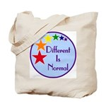 """Different Is Normal"" Tote Bag 1"