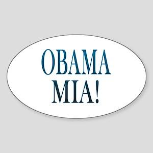 Obama Mia! Oval Sticker