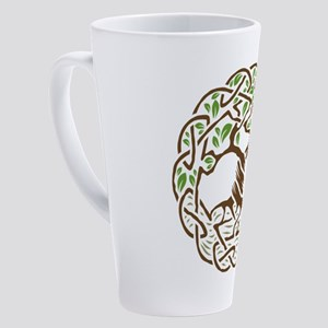 Celtic Tree of Life with Leaves 17 oz Latte Mug