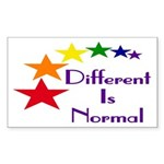 "Ten ""Different Is Normal"" Stickers"