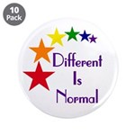 "Ten ""Different Is Normal"" Big Buttons"