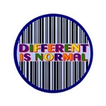 """Different Is Normal"" Big Button 6"