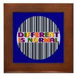 """Different Is Normal"" Framed Tile 3"