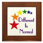 """Different Is Normal"" Framed Tile"