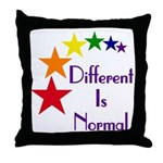 """Different Is Normal"" Throw Pillow"