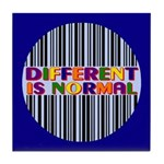 """Different Is Normal"" Tile Coaster 3"