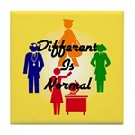 """Different Is Normal"" Tile Coaster 2"