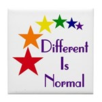 """Different Is Normal"" Tile Coaster 1"