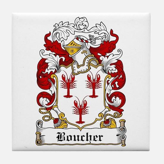 Boucher Family Crest Tile Coaster
