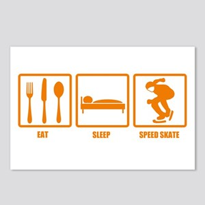 Eat Sleep Speed Skate Postcards (Package of 8)