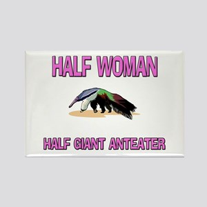 Half Woman Half Giant Anteater Rectangle Magnet