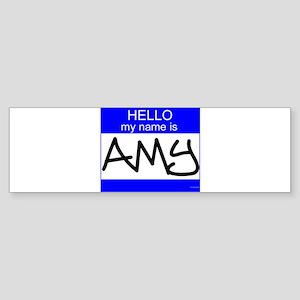 """Amy"" Bumper Sticker"