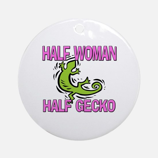 Half Woman Half Gecko Ornament (Round)