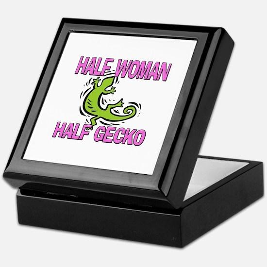 Half Woman Half Gecko Keepsake Box