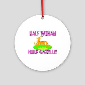 Half Woman Half Gazelle Ornament (Round)