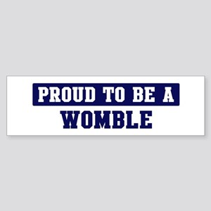 Proud to be Womble Bumper Sticker