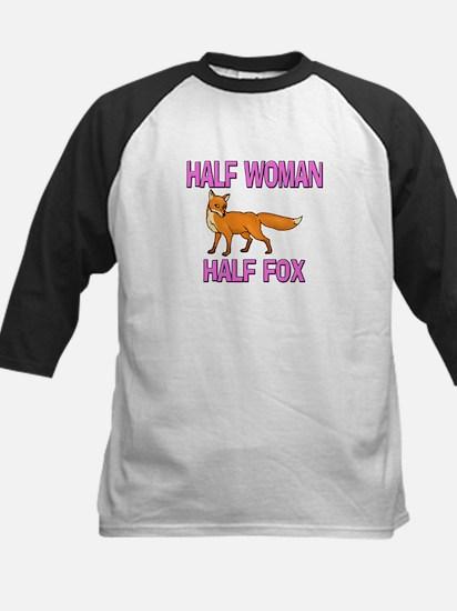 Half Woman Half Fox Kids Baseball Jersey