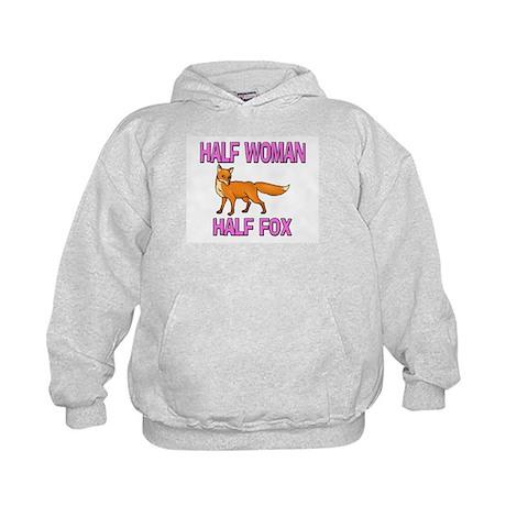 Half Woman Half Fox Kids Hoodie