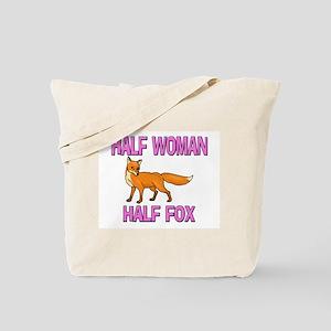 Half Woman Half Fox Tote Bag