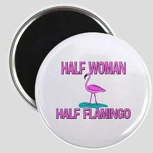 Half Woman Half Flamingo Magnet